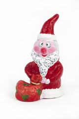 Xmas decoration. Santa isolated