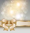 Abstract christmas background with elegant gold banner