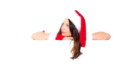frau blick weihnachten