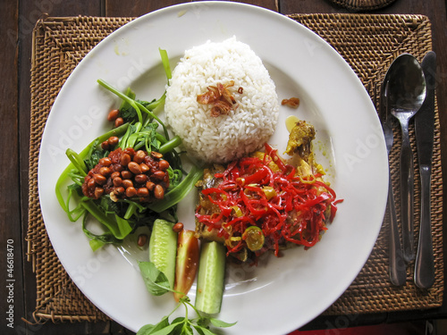 Foto op Plexiglas Indonesië nasi lemack inodesian food bali
