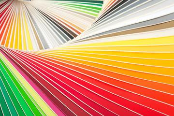 Closeup of color palette guide