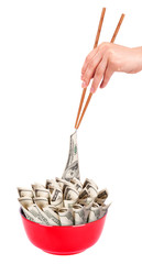 Concept image of food money