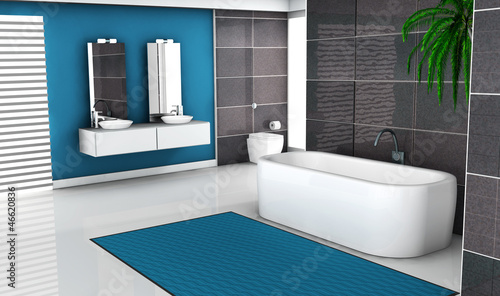 Modern Blue Bathroom