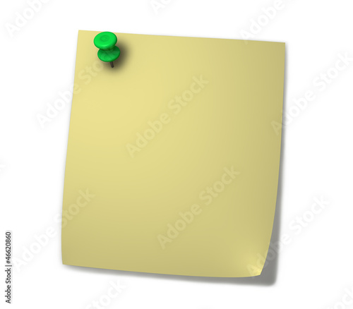 Yellow PostIt Blank