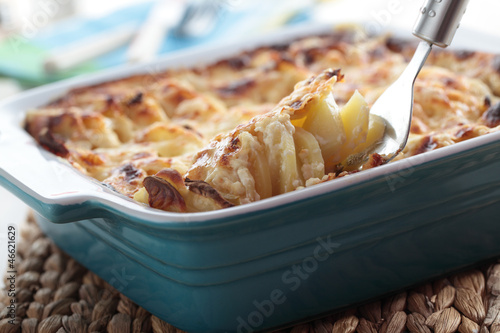 Kohlrabi and potato gratin