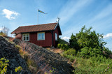 Typical Swedish summer cottage at Harstena island