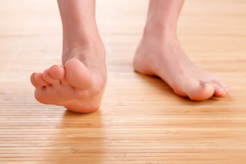Healthy female feet