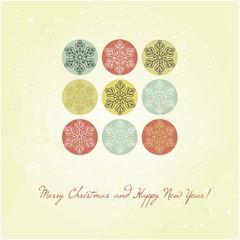 Christmas card with snowflakes, Xmas card