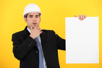 Businessman in a hardhat