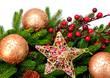 Christmas Decoration. Holiday Decorations Isolated on White