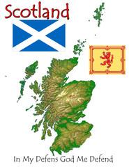 Scotland Europe national emblem map symbol motto