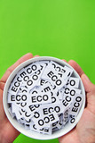 hand hold eco sign concept