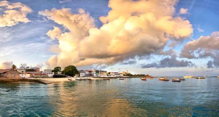 Panorama of Stone Town on Zanzibar island