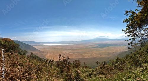 Panorama of Ngorongoro Crater