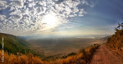 Panorama of Ngorongoro Crater