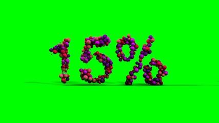 15 percent green screen sale
