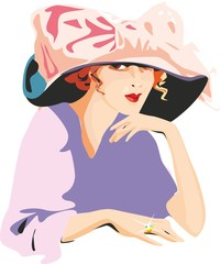 the girl in a hat
