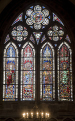 Strasbourg - The gothic cathedral, stained glass
