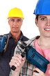 Manual workers and tools