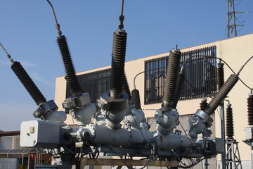 insulators of a transformer in power plant electricity productio