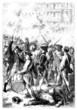 French Revolution : Riot Scene - Emeute - 18th century