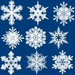 Snowflake Set - Christmas Illustration