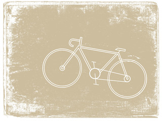 bicycle silhouette on grunge background