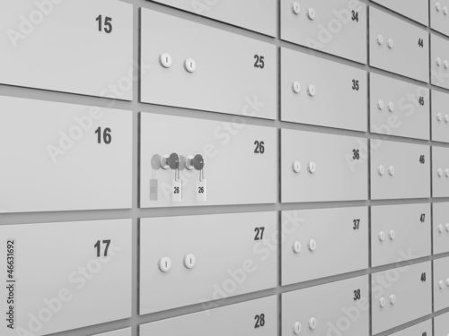 Deposits Bank Safe Abstract Background
