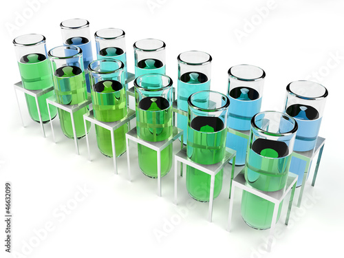 Test tubes isolated