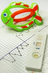 Fertility chart. Naprotechnology. Pregnancy test