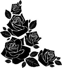 rose silhouette decorative element