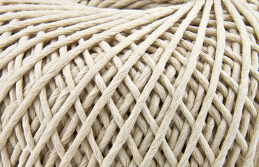 extreme close up of string texture