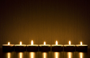 Small candles with space for text. Romance/maditation concept