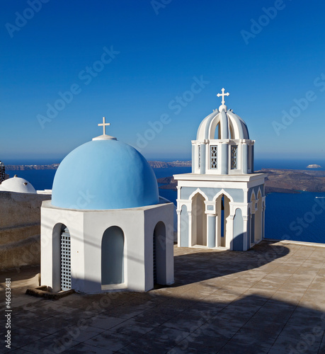 Chuch in Fira. Santorini. Greece.