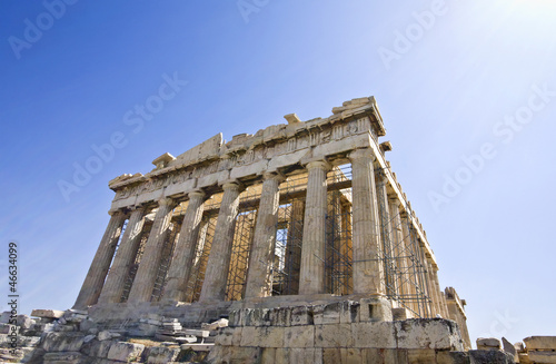 The Parthenon temple at Athens city in Greece