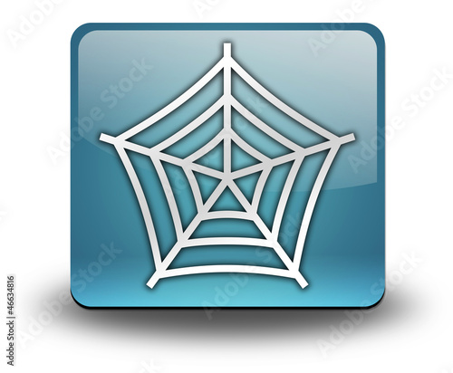 "Light Blue 3D Effect Icon ""Spider Web Symbol"""