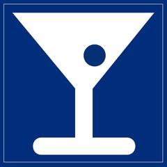 Schild blau - Bar