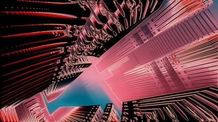 Alien  city. 3D render image