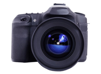 photo and video camera isolated