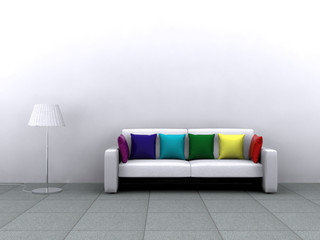 3D Rendering Couch