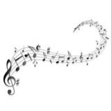 Fototapety Notenschlüssel Noten Musik