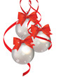 vector illustration, Christmas ball with red bow