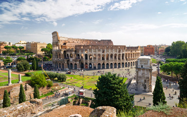 View of the Colosseum from Palatine hill, Rome