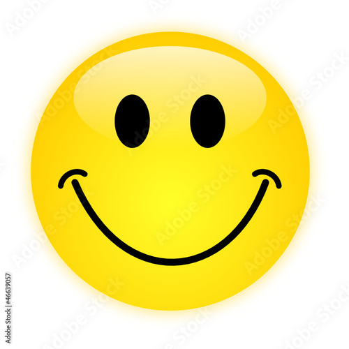 glossy smiley, vector