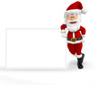3D Santa with a banner