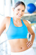Fit gym woman