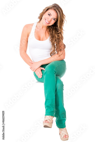 Casual woman sitting