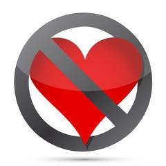 do not heart illustration