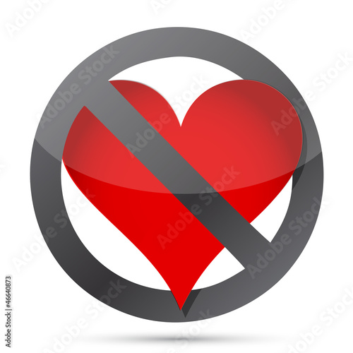do not heart illustration