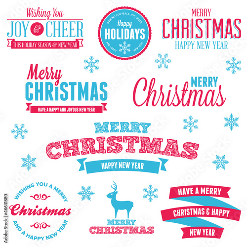 Christmas holiday labels